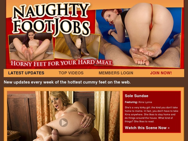 Naughty Foot Jobs With European Credit Card