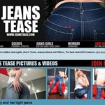Jeans Tease With Yen