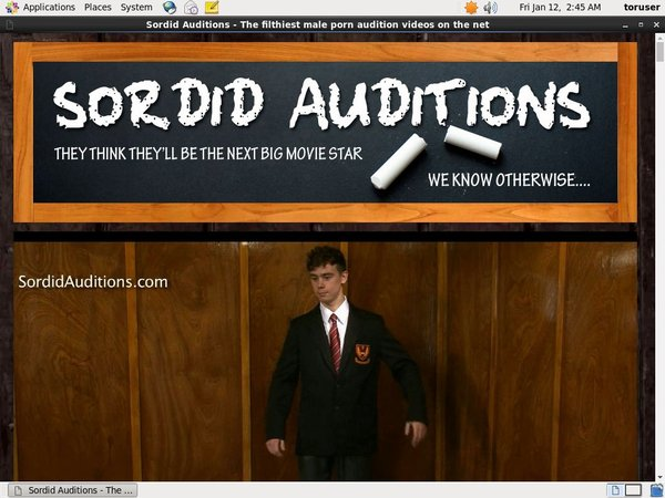 Free Sordidauditions Account Password